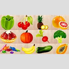 Kids Learning Fruits And Vegetables Names For Kids  English  Food Puzzle For Kids Youtube