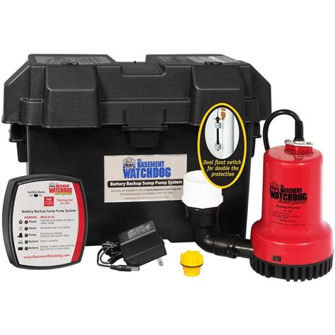 battery operated ls lowes shop basement watchdog 0 25 hp plastic battery powered