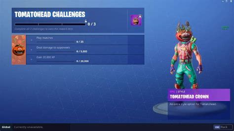 fortnite tomatohead challenges      skin