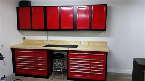 Garage Shelving Harbor Freight by Another 44 Quot Harbor Freight Tool Box Wood Workbench The