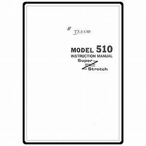 Instruction Manual  Riccar 510   Sewing Parts Online