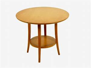 vintage circular birch wood coffee table 1950s for sale With birch wood coffee table