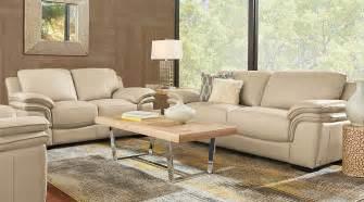 livingroom sectionals home grand palazzo beige leather 3 pc living room leather living rooms beige