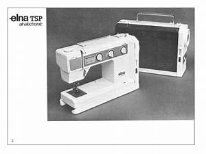 Elna Tsp 58 Air Electronic Instruction Manual On Cd In Pdf