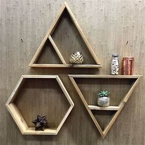 hexagon shelves shelf wall restoration and wall decor With kitchen cabinets lowes with metal circles wall art