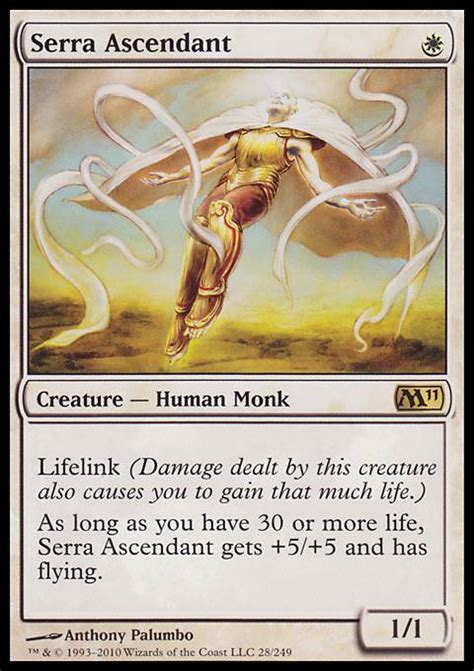 Human Mtg Deck by Serra Ascendant M11 Mtg Card