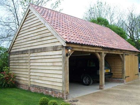 pantile roof oak garage exposed beam feature tabby garage timber frame garage carport
