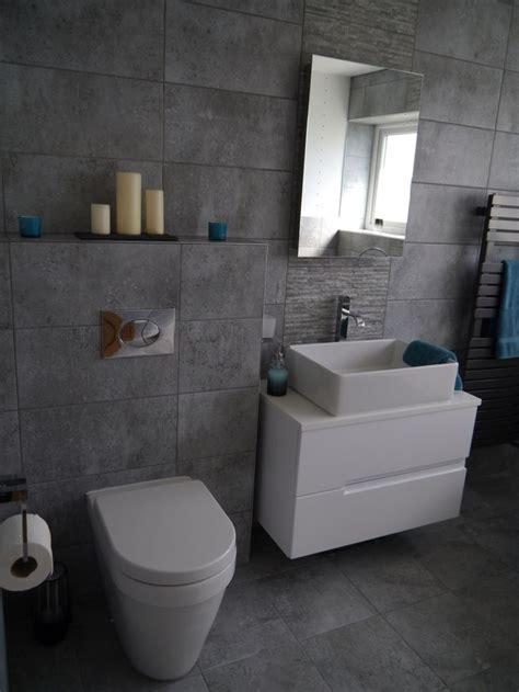 grey white ensuite bathroom  bathstore bayou