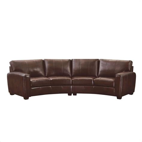 brown sectional with ottoman coaster cornell 2 piece curved sofa sectional in brown
