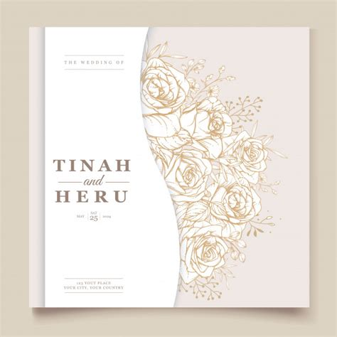 Free Vector Elegant wedding invitation design with