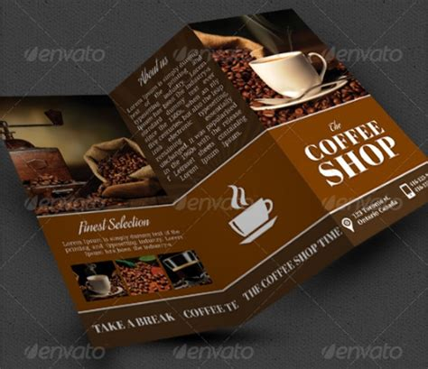 coffee shop brochure templates  ms word psd