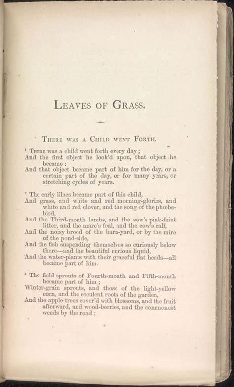 child   leaves  grass   walt whitman archive