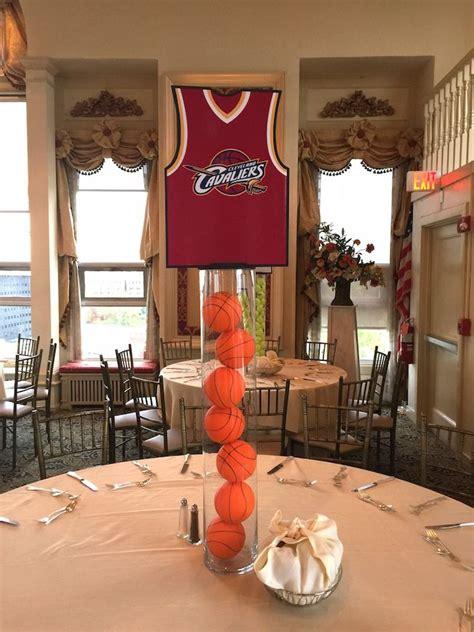 cavaliers basketball themed centerpiece   multi