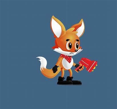 Foxy Character 2d Asset