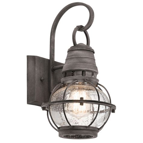 large nautical wall light kichler 49627wzc bridge point nautical londonderry exterior extra large wall light sconce kic