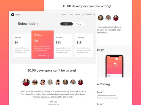subscription web page design  ayush parashar  dribbble