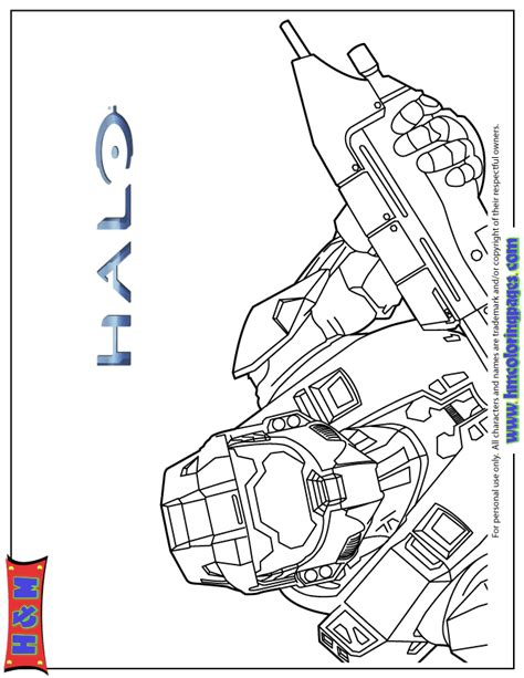 halo  video game coloring page   coloring pages