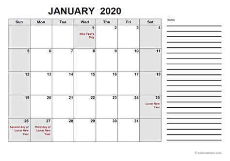 hong kong  calendar  template  printable