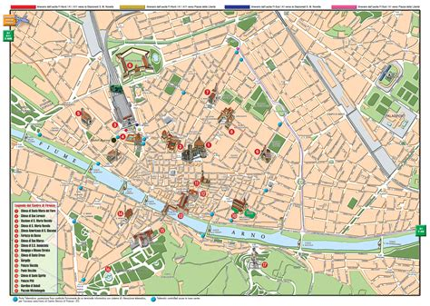florence map detailed city  metro maps  florence