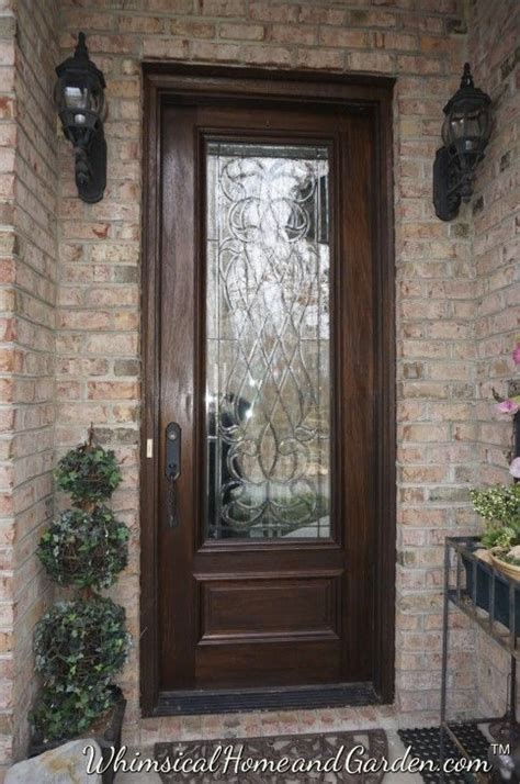Wood Front Door With Door by Leaded Beveled Glass Front Entry Door Outdoor