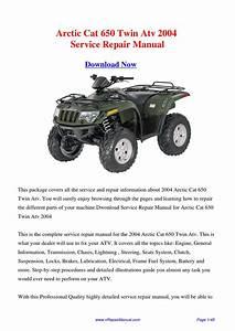 Download 2004 Arctic Cat 650 Twin Atv Service Repair
