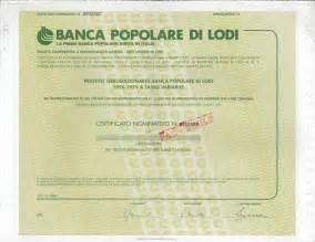 Pop Di Lodi by Popolare Di Lodi Titolo Finanziario Storico