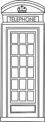 Telephone Booth Box Clipart Phone Digi Coloring Fringe Crafts Drawing London British Beyond Door English Beyondthefringecrafts Repinned Stamp Clipground Digital sketch template