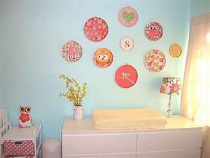 Baby girl nursery wall art