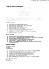 resume for computer listing computer skills on resume best resume exle