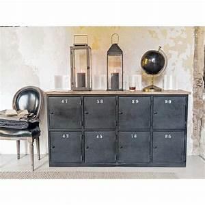 les 25 meilleures idees de la categorie bahut industriel With awesome meuble d entree maison du monde 6 deco industrielle maison du monde