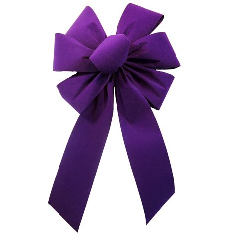 hand tied bows outdoor purple outdoor velvet bow