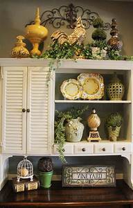 25 best ideas about above cabinet decor on pinterest With kitchen cabinets lowes with french cafe wall art
