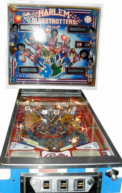 Pinball Harlem Globetrotters Machine Playfield Themselves Filled