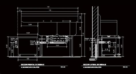 grease trap dwg detail  autocad designs cad