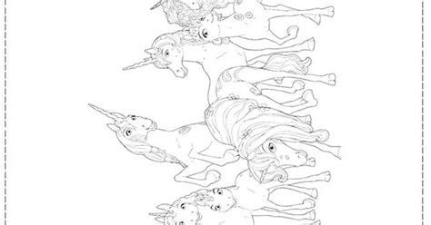 Unicorns Colouring Page