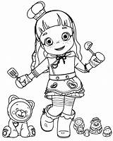 Coloring Ruby Rainbow Choco Cartoon Lovely Colouring Characters Coloringpagesfortoddlers Birthday sketch template