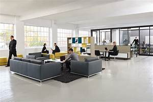 modern, office, design, integrates, lounge, , collaboration, and, private, office, space