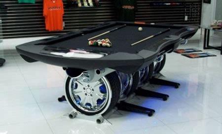 hurricane custom billiards builds car themed pool table