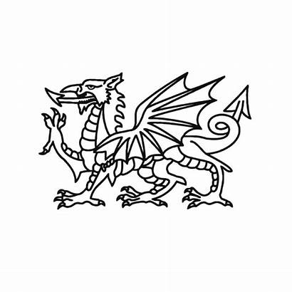 Welsh Dragon Svg Coloring Chinese Wales Flag