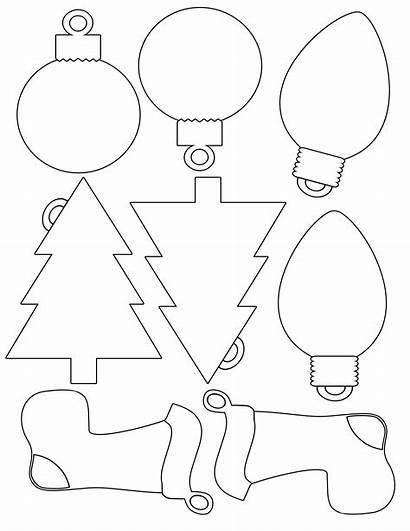 Christmas Printable Ornaments Template Templates Felt Tree