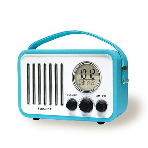 Bedroom Radio Alarm Clocks by Portable Wood Retro Clock Radio Alarm Clocks Retro