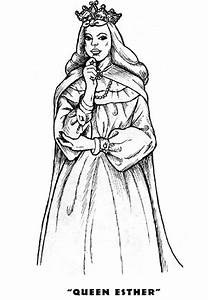 Queen Esther - Purim Coloring Pages