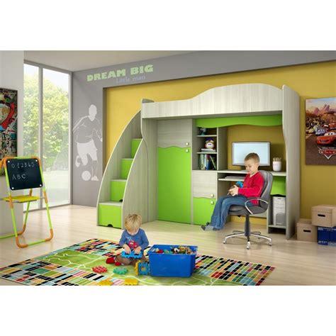 lit mezzanine avec armoire et bureau lit mezzanine superposé combiné avec bureau et armoire