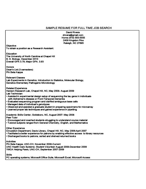 Year Student Resume Template by Year Student Sle Resume Free