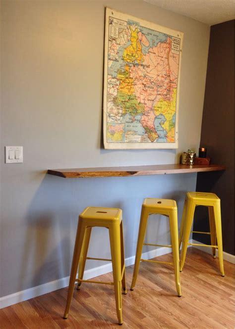 kitchen bar table against wall floating breakfast bar wall mounted breakfast bar
