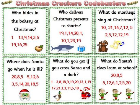 christmas crackers codebusters ks1 by whitley01 teaching