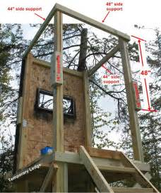 deer shooting house plans pictures diy deer stand view source more tree stand free plans