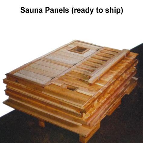 freestanding pre fab sauna kit heater accessories