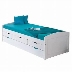 Lit 90x190 Avec Rangement : lit avec tiroir rangement maison design ~ Teatrodelosmanantiales.com Idées de Décoration