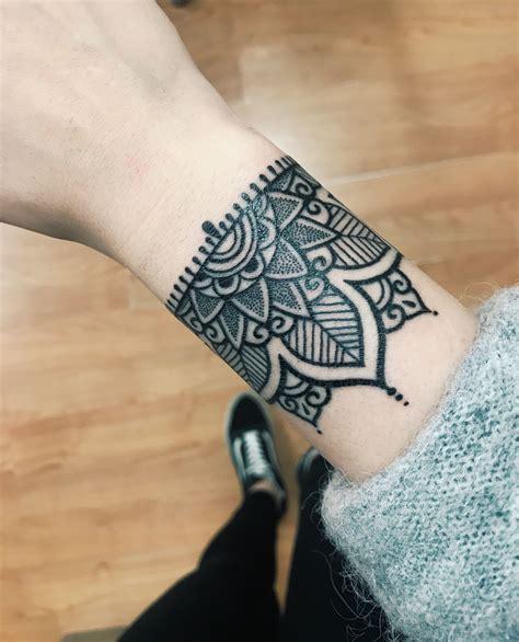 mandala bracelet tattoo tattoo mandalatattoos